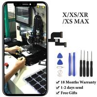 Для iPhone X XS lcd сенсорный экран без битых пикселей OLED OEM панель в сборе для iPhone XS Max XR ЖК-дисплей Запасная часть