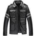 mens cow leather clothing male cattle leather jacket slim genuine cowhide leather motorcycle rider jacket 761