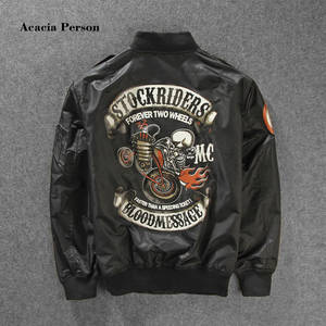 9ab45663b4f6 Acacia Person Bomber Jackets Men Baseball Pilot Jackets