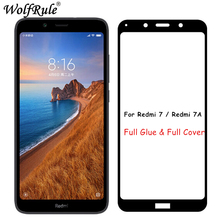 2pcs LCD Screen Protector Xiaomi Redmi 7A Full Glue Tempered Glass For Cover Xiomi 7 Y3 Phone Film