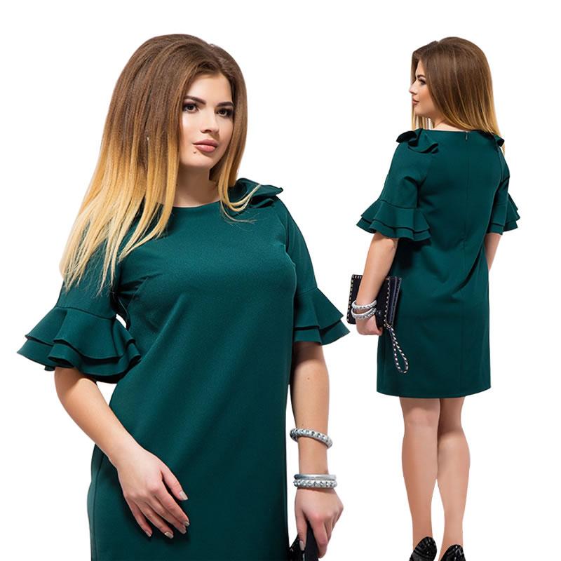Ruffles Sleeve Beach Dress 2018 Plus Size Women Dress Straight Mini Summer Dress 5XL 6XL Large