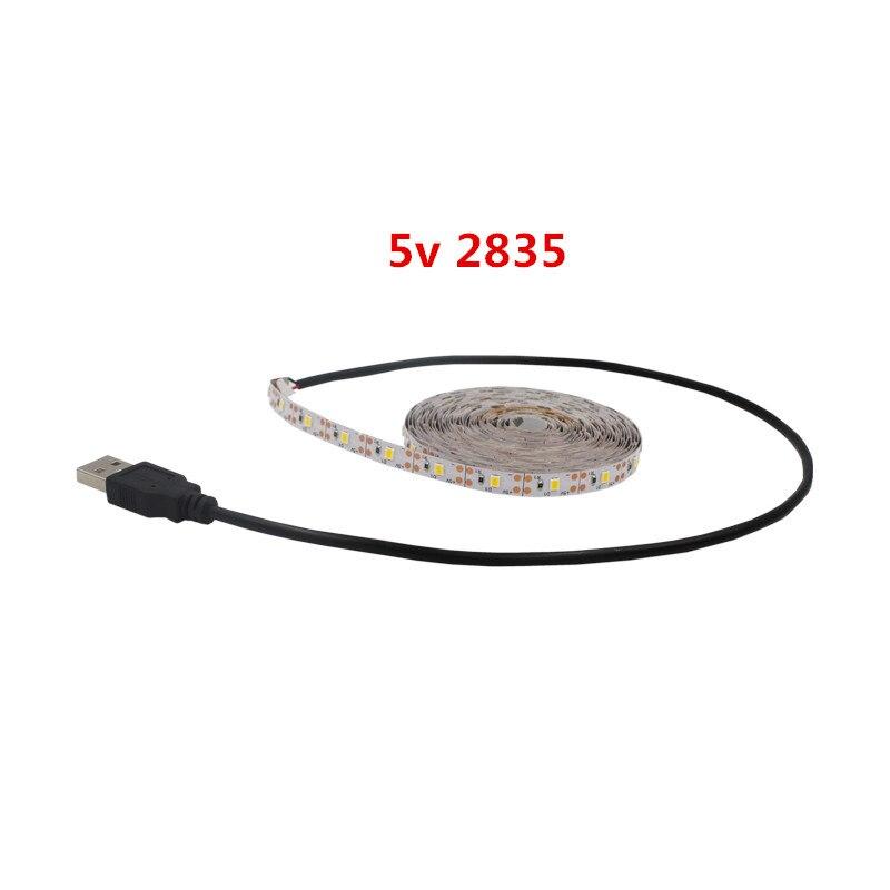 5v DC led strip Flexible light strip 2835SMD 60leds/m TV lights Can paste white warm 1m 2m 3m 5m led strip lights 2835smd not waterproof 1m 2m 3m 5m 60leds m 120leds m 180leds m 240leds m super bright flexible lights