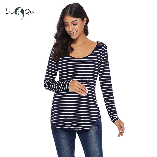 Pack of 3pcs Striped Pregnancy Tops Mama Maternity Clothes Blouse Ropa Mujer Womens Clothing Plus Size Loose Premaman Women Tops 5