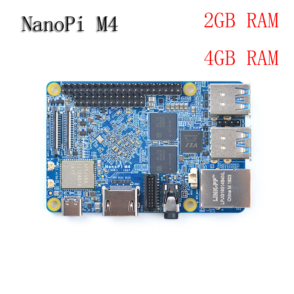 NanoPi M4 2GB/4GB DDR3 Rockchip RK3399 SoC 2.4G & 5G Dual-band WiFi,Support Android 8.1 Ubuntu, AI And Deep Learning