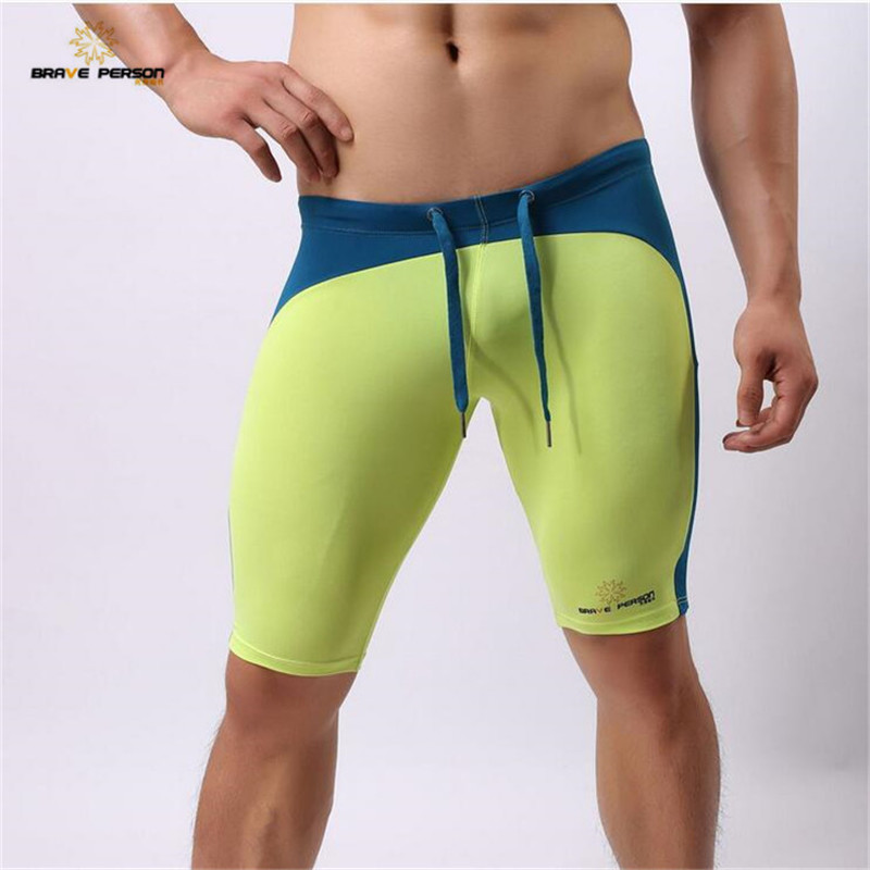 BRAVE PERSON Men's Sexy Transparent Beach Wear   Shorts   Man   Board     Shorts   Multifunctional Knee-length Tights for Men   Shorts   2223