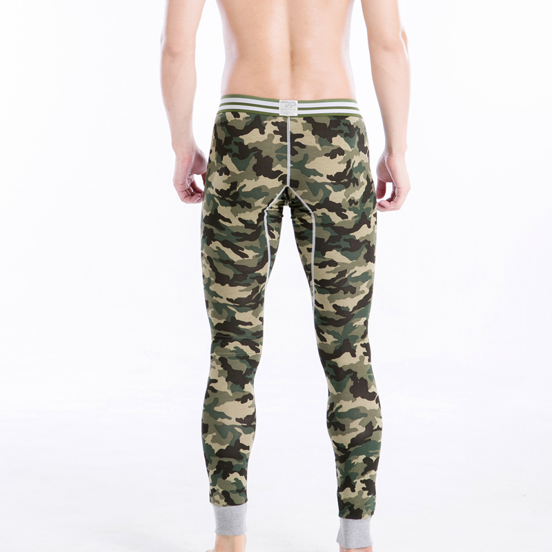bd756893540df Male winter sexy thermal underwear men camouflage color stripe ...