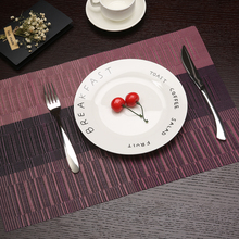 2pcs/Lot Tricolor Stripe Pattern Placemats For Kitchen Table PVC Rectangle Table Mat Table Dining Mats New Placemat 30*45cm