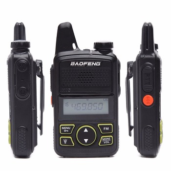 2pcs baofeng bf-t1 bft1 mini walkie talkie cb two way radio uhf long range flashlight handheld transceiver portable ham radio