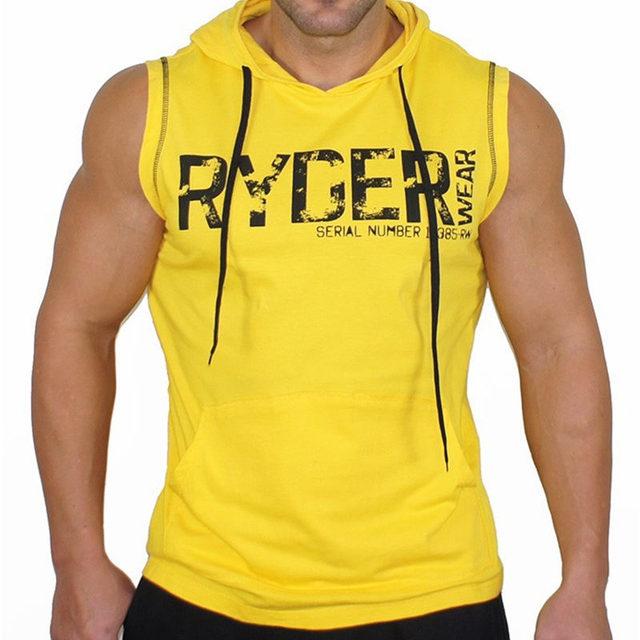 Mens Bodybuilding Cotton...