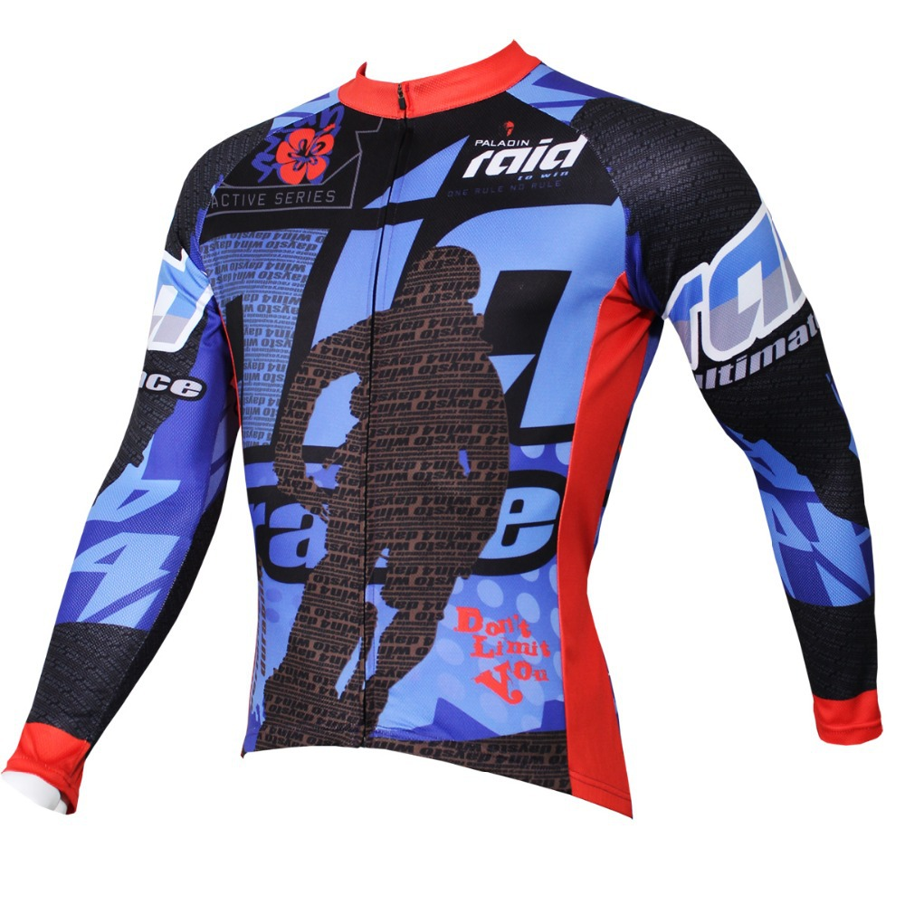 PALADIN  Riding Pioneer  Mens Long Sleeve Cycling Jersey Bike Shirt Cycling Clothing