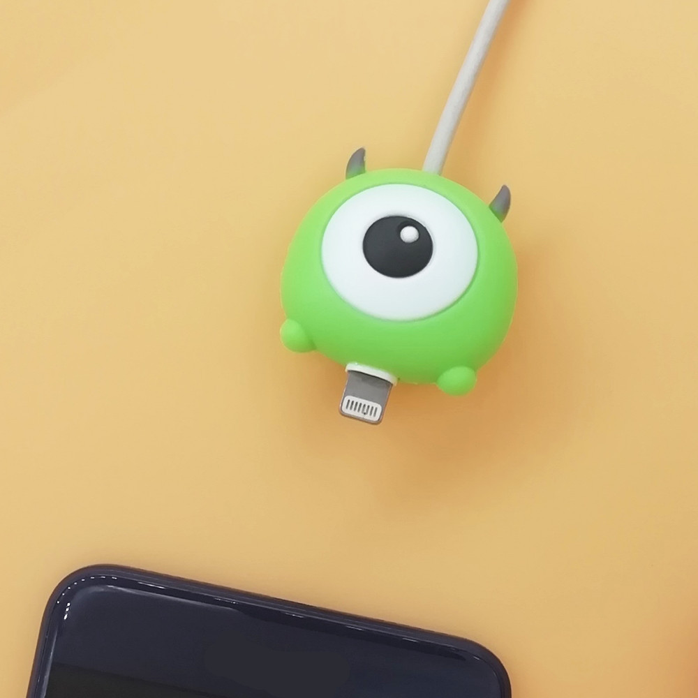 Cute Cartoon Animal Cable Bite Phone Charger Cable Protector Cord Data Line Cover Decorate Smartphone Wire Accessories in Cable Winder from Consumer Electronics