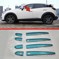 2016 Car Styling 8pcs/set Car Sticker Stainless steel trim Door Handle Cover For Mazda CX-3 Special Car Modification Part