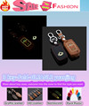 Для Geely GLEAGLE yuanjing автомобиль Световой Кожаной сумке ключи случаях брелок Бумажник умный/фолд 1 шт.