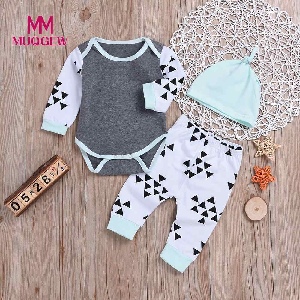 4575aa89546 MUQGEW Newborn Baby Clothes Tops T-Shirts Long Sleeve Pants Legging Hat Casual  Clothing 3PCS