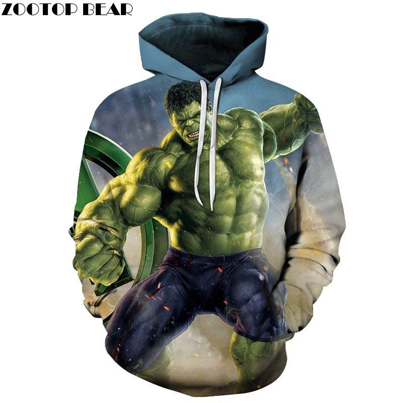 3D Print Hoodie Mens Pullover Sweatshirt Marvel Men's Hoodie Casual Sweatshirt Super Heroes Fashion Men Hoodies ZOOTOP BEAR