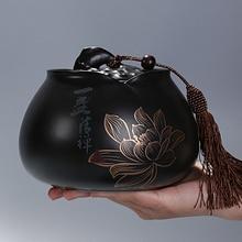 Китайский стиль kongfu чайник керамический Герметичные банки маленькая коробка для упаковки конфет контейнер для хранения чая канистра