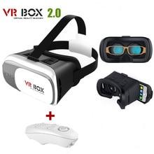 VR BOÎTE 2.0 Réalité Virtuelle 2 + Bluetooth 3.0 Télécommande 3D Lunettes Compatible 3.5-6 Pouce Téléphone VR casque