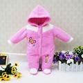 2017 nueva little q bebé de terciopelo de coral de manga larga de invierno ropa de niños ropa de la muchacha de una pieza para niños body de recién nacido lactante prendas de vestir