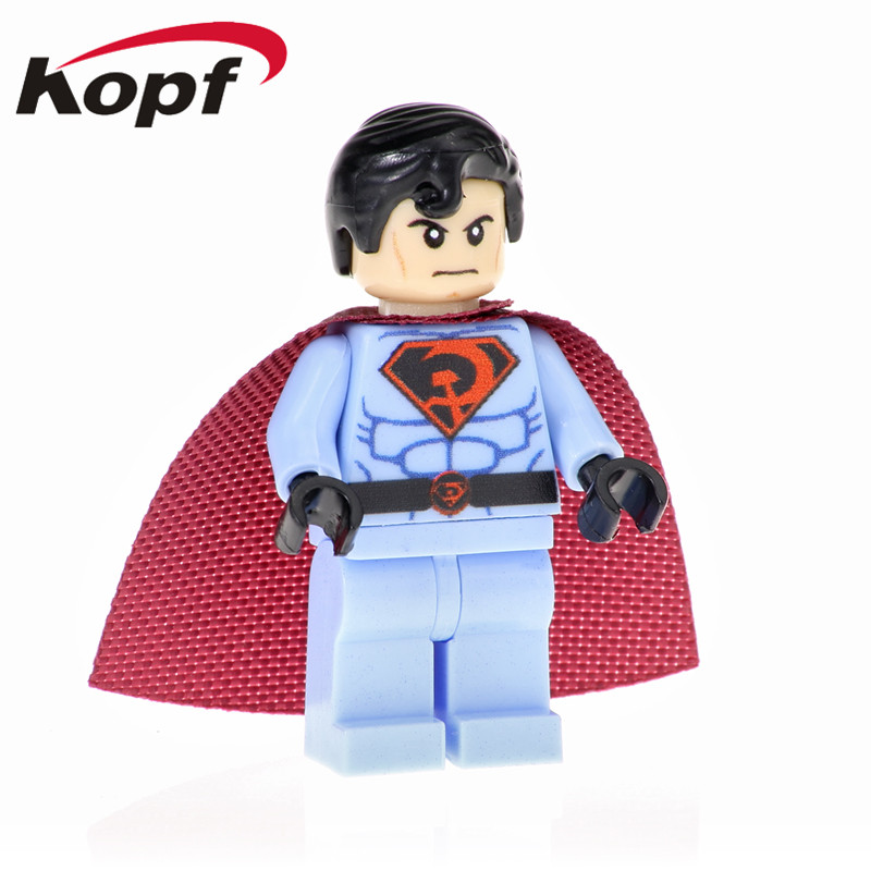 PG1548 Building Blocks Super Heroes Superman Red Son Captain American Action Figures Collection Bricks For Children Gift Toys