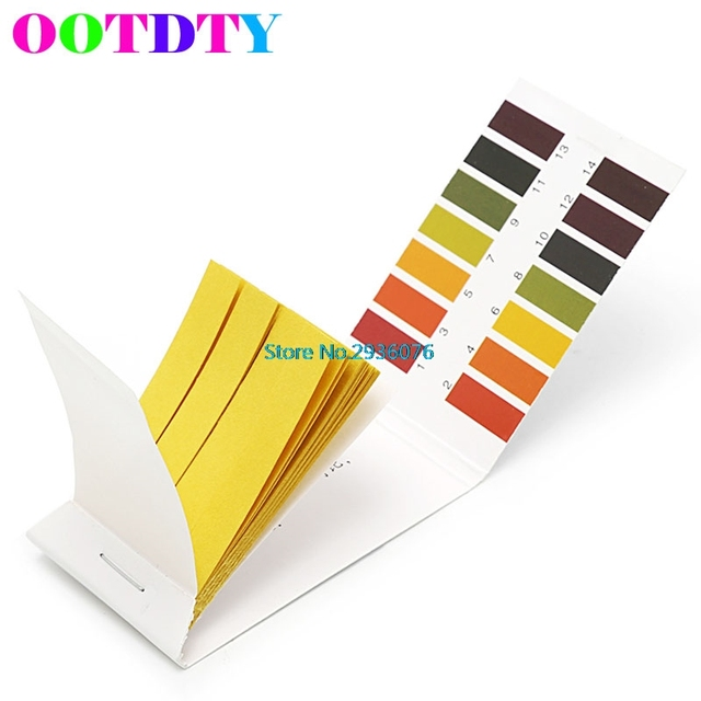80 Strips Full pH 1-14 Test Indicator Paper Litmus Testing Kit