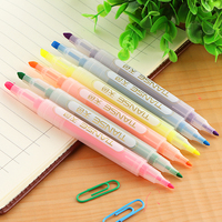 TIANSE Highlighter 6 Color Pen Colorful Marker Highlight Writing Pen Fluorescence Note Mark Office Suppiles Student