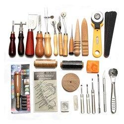 37 Uds. Kit de herramientas artesanales de cuero, herramientas para coser a mano, perforar, tallar, sillín, Groover E2S