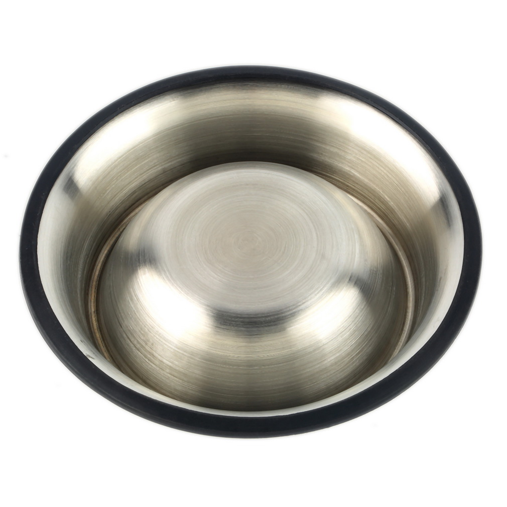 Stainless Steel Standard Pet Puppy Cat Dog Food or Drink Water Bowl Dish With an Effective skid-resistance Rustproof