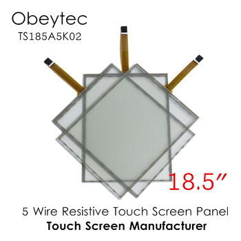 """Obeytec 18.5"""" 5Wire resistive Glass touch Sensor, with 5V EETI controller, USB/ Serial Port, AA 409.79*230.4 mm, TS185A5K02"""