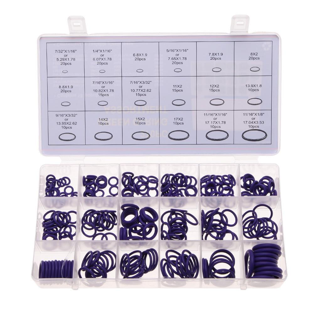 Высокое качество 270 шт. 18 Размеры уплотнительное кольцо комплект Фиолетовый метрики уплотнительное кольцо Уплотнители нитрильный каучук К...