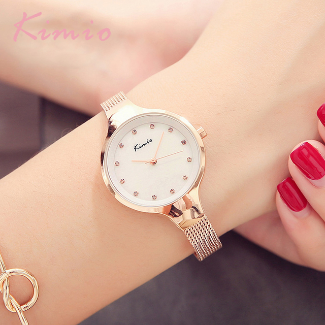 100% Kimio Relojes Mujer Wristwatch Bracelet Quartz Watch Woman Ladies Watches Clock Female Dress Relogio Feminino For Women