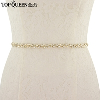 TOPQUEEN S383Crystal Wedding Belts Wedding Sashes Pearl Bridal Belts Bridal Sashes For Bridesmaid Dress Fast Delivery