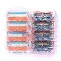 8 unids/lote Cuchillas de Afeitar Las Hojas de afeitar para Hombres de Los Hombres De Energía De Fusión sh Cuchillas De Afeitar Cuchillas de afeitar de Los Hombres para el Estándar para RU y Eu EE. UU.
