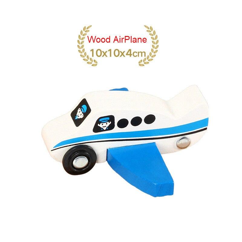 EDWONE деревянный магнитный Поезд Самолет деревянная железная дорога вертолет автомобиль грузовик аксессуары игрушка для детей подходит Дерево Biro треки подарки - Цвет: no 21Wood AirPlane