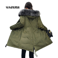 2017 Big Yards Long Thickening Heavy Hair Coat Winter Clothes Jacket Women Abrigos women parka coat manufacturer cheap price