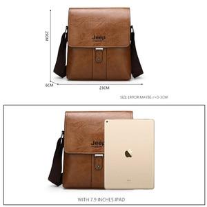 Image 2 - JEEP BULUO Men Shoulder Bag Set Big Brand Crossbody Business Messenger Bags Casual pu Leather For Man Fashion New Hot Salling