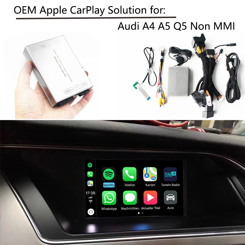 US $279 99 |Sinairyu OEM Apple Carplay IOS Airplay Android Auto Retrofit  Upgrade A4 A5 Q5 S5 Symphony No MMI for Audi-in Car Monitors from  Automobiles