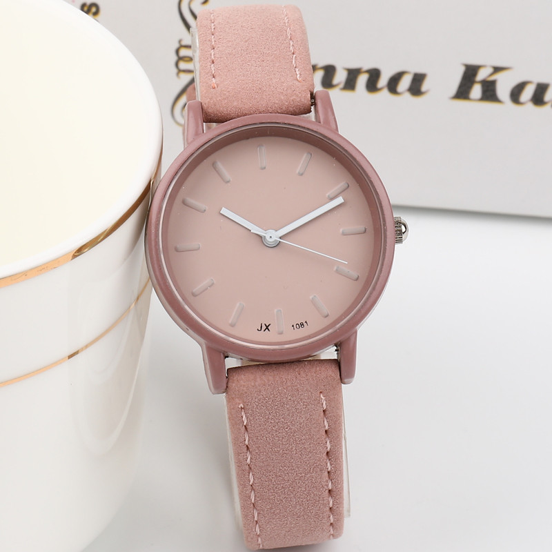 New Fashion Watch Women Simple Elegant Style Leather Strap Small Sliver Dial Casual Quartz Watch Ladies Popular Clock Vintage kevin black red white leather strap women watches modern quartz ladies watch fashion simple arabic numerals dial clock 2018 new