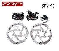 1 par trp spyke bicicleta mtb mountain bike freio a disco mecânico duplo lado atuação com 6 parafuso centerline rotor|trp spyke|mountain bike mechanics|mechanical disc brake -