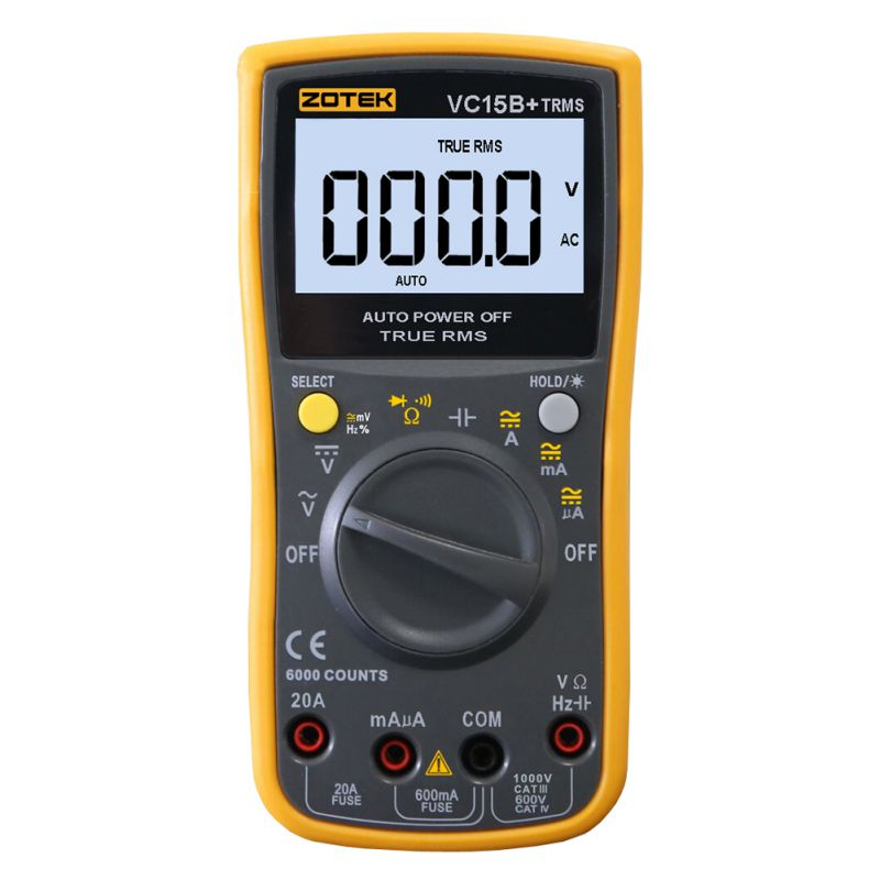 Useful RM101 Digital Multimeter 6000 counts Backlight AC/DC Ammeter Voltmeter Ohm Portable Meter zt101 zt102 digital automatic range multimeter 6000 counts backlight ac dc ammeter voltmeter ohm portable meter voltage meter