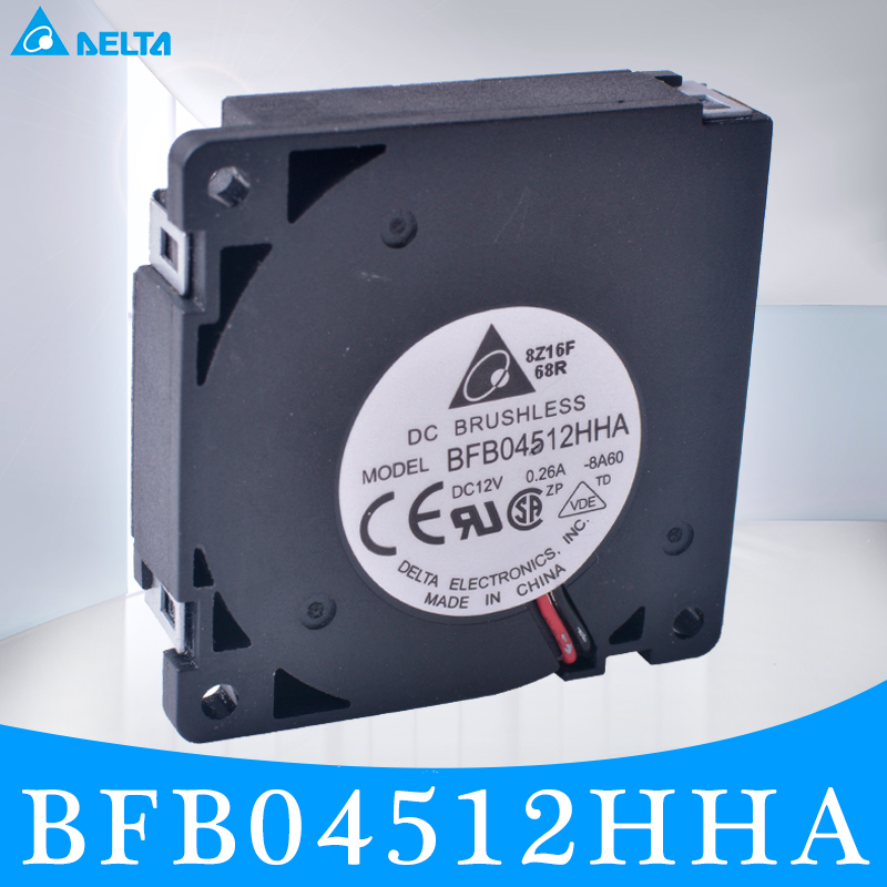 D'origine chargement DELTA BFB04512HHA 4.5 CM 45mm fan 45x45x45x10mm à double flux ventilateur 12 V 0.26A Le meilleur DIY option