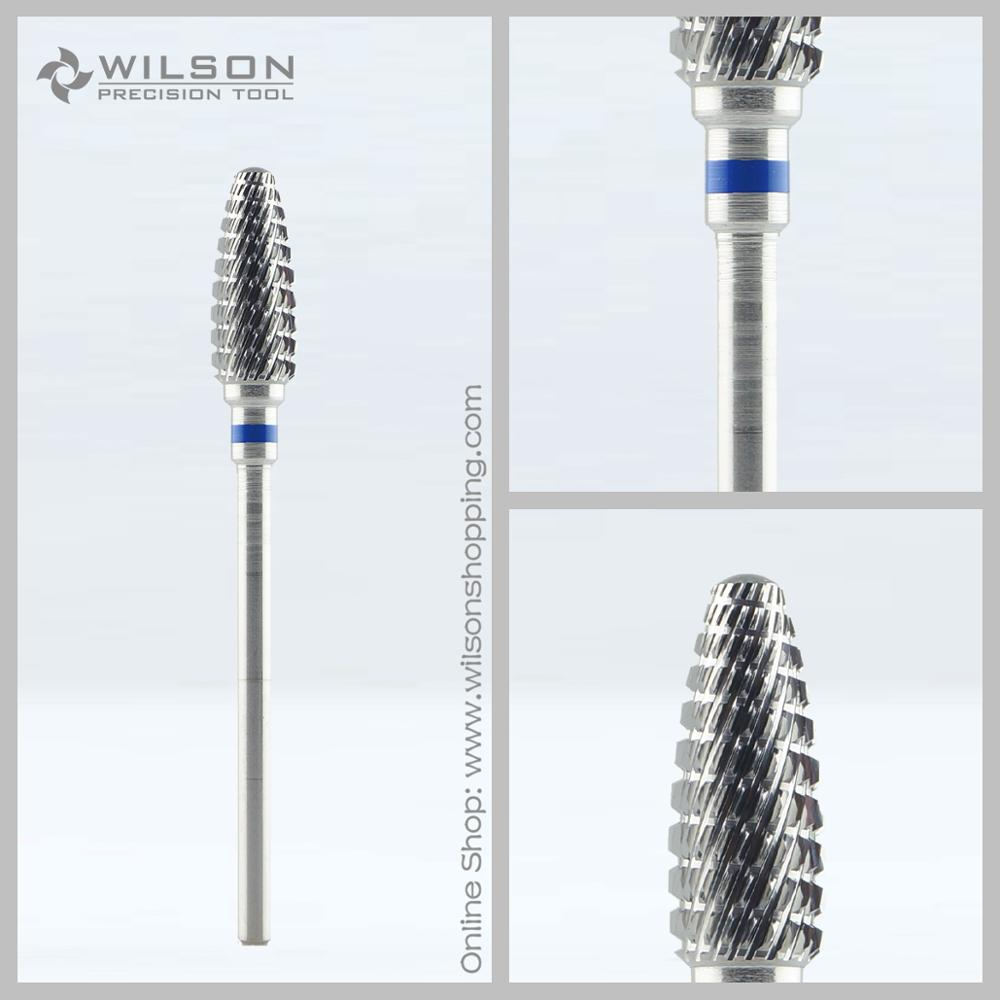 Flame Shape - Remove Foot Calluses - WILSON Carbide Pedicure Drill Bit(1100258) volcano bit fastest remove acrylics or gels one directional for right hand use only wilson carbide nail drill bit