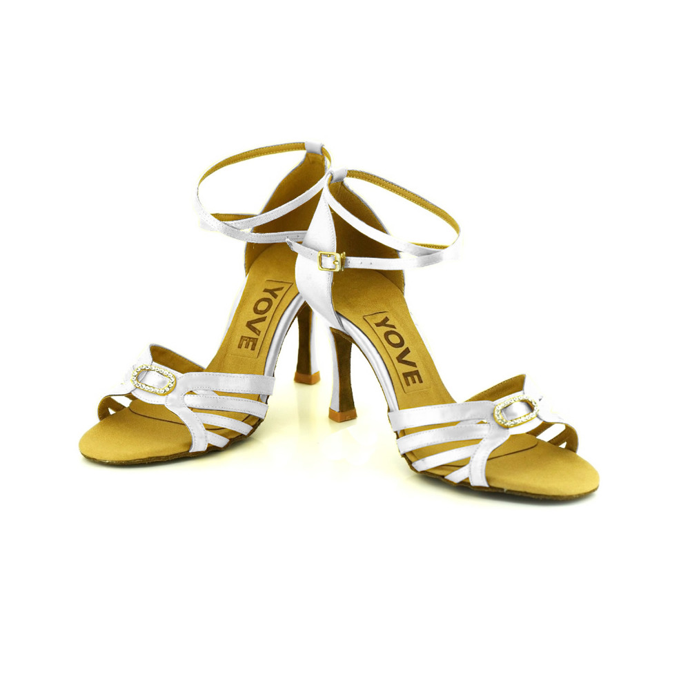YOVE Dance font b Shoes b font Vintage Satin Women s Open Toe font b Salsa