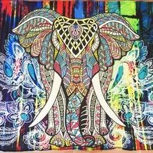 Elefante Indio Mandala Tapiz Tapiz de Color Impreso Decorativo 130 cm x 150 cm 153 cm x 203 cm Boho de La Pared alfombra