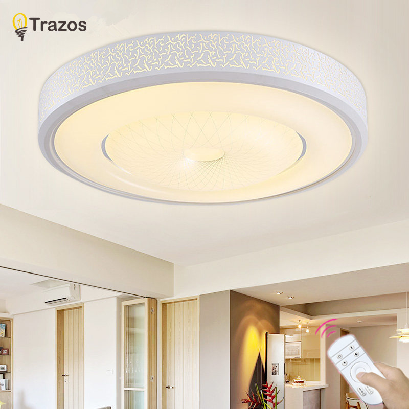 Ceiling Lights Honesty New Modern Led Ceiling Lights Living Room Dining Bedroom Luminarias Para Teto Oval Round Ironlamp Dimmable Home Lighting Fixture Ceiling Lights & Fans