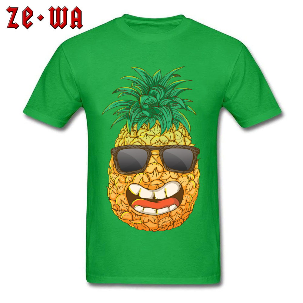 Cool Pineapple Round Neck Top T-shirts Labor Day Tops Shirts Short Sleeve Special Cotton Cool Tops & Tees Custom Student Cool Pineapple green