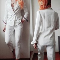 2018 New White Formal Suits For Women Casual Office Business Suitspants Work Wear Sets Uniform Styles