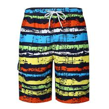 Shorts Men Colorful Striped Beach Pants Casual Mens Loose Fitness Clothing Summer