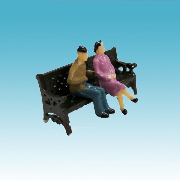 2 PCS Of 1/87 HO Model Park Bench/Mini Bench Model Miniature Parks Home Crafts Gardens Ornament/Train/Railway/Railroad Layout
