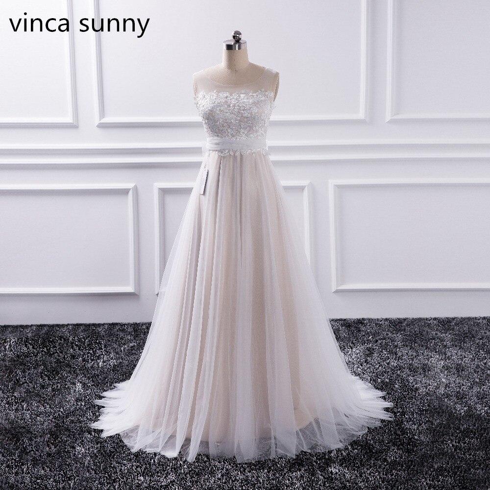 vinca sunny Bohemian Wedding Dresses French Lace sleeveless Boho ...
