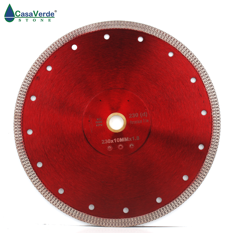 Free shipping DC SXSB07 9 inch super thin diamond porcelain saw blade 230mm for ceramic tile cutting-in Saw Blades from Tools
